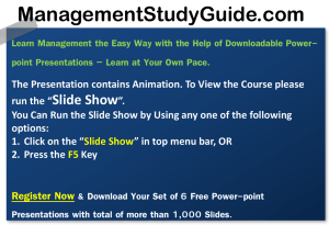 Business Communication - Management Study Guide