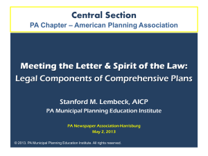 Comp Plan Program 5.2.2013 Lembeck, Stan – Legal Components