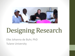 Designing Research