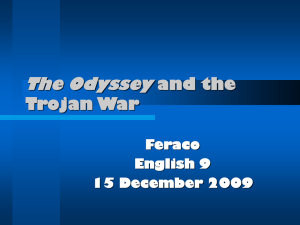 The Odyssey and the Trojan War