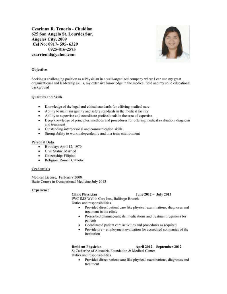 s resume