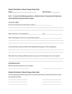 Student Worksheet: Climate Change Study Guide