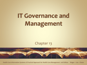 IT Governance and Management - Cal State LA