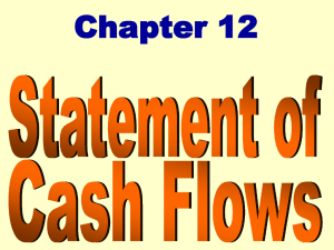 Steps in Preparing Statement of Cash Flows