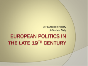 European Politics in the Late 19th Century