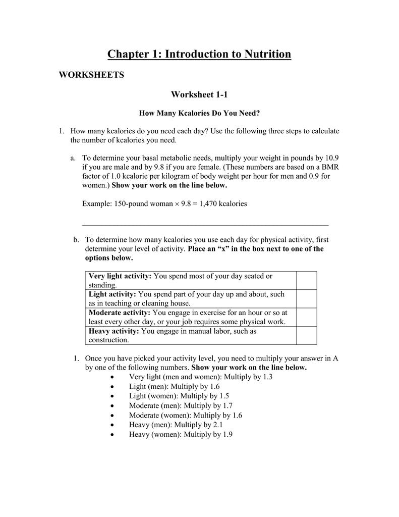 Worksheet 1 2