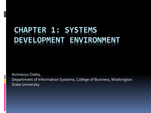 Chapter 1: Systems Development Environment