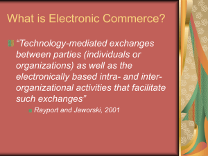 E-Commerce and the Internet