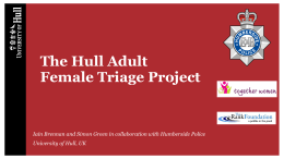 Pre-charge diversion for adult female offenders: a natural experiment