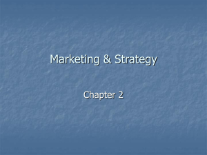 Chapter 2: Linking Marketing and Corporate Strategies