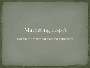 Marketing 1.02-A