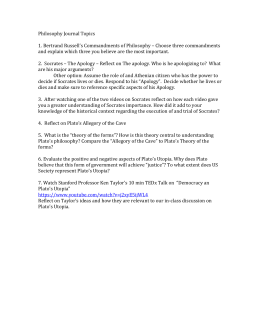Philosophy Journal Topics 1. Bertrand Russell's Commandments of