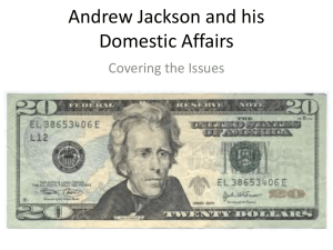 Review Of Andrew Jackson for Graphic Organizer