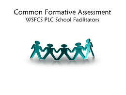 Creating a Common Formative Assessment