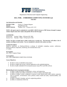 EEL4740L Embedded Computing Systems Lab_syllabus