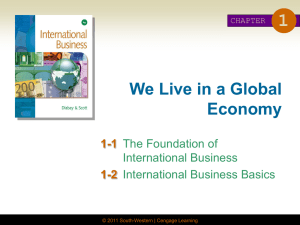 CHAPTER 1 We Live in a Global Economy
