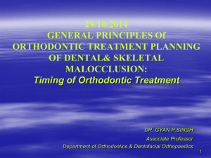 General Principles of Orthodontic