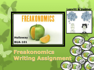 Freakonomics Instructions: Part 1