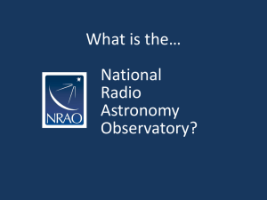 electromagnetic spectrum - NRAO Charlottesville