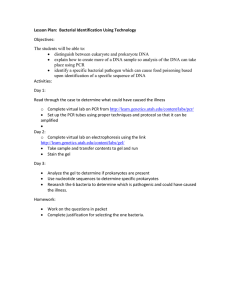 Lesson Plan - Bioinformatics Activity Bank