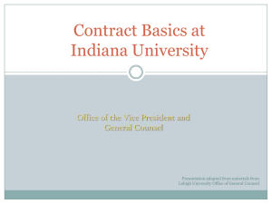 What Is A Contract? - Indiana University