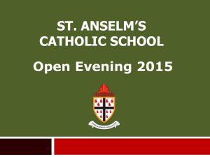 Powerpoint Slides from Open Evening