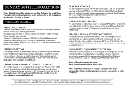 Newsletter - Chapel Allerton Baptist Church