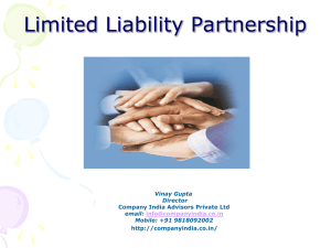 LLP - Company Formation in India