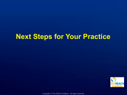 Unit Q: Next Steps for Your Practice