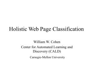 Wholistic Web Page Classification