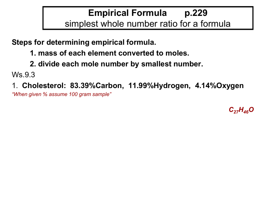 determining the formula of an unknown hydrate essay (ii) determine the formula of the hydrated compound mgcl 2  6h 2 o (c) a different student heats the hydrate in an uncovered crucible, and some of the solid spatters out of the crucible.