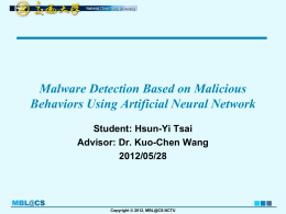 A Behavior-based Methodology for Malware Detection