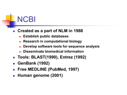 A Field Guide to NCBI Resources