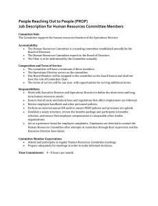 Human Resources Committee job description