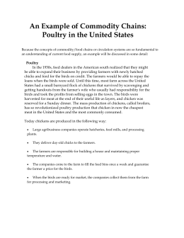 An Example of Commodity Chains: Poultry in the United States