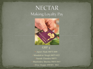 NECTAR Making Loyality Pay