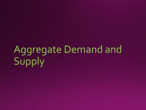 Aggregate Demand and Supply - PowerPoint Presentation