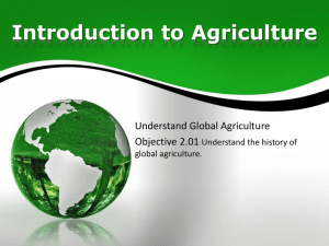 Introduction to Agriculture - Public Schools of Robeson County