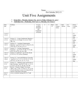 unit 13 assignments