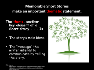 How to Discuss A Short Story