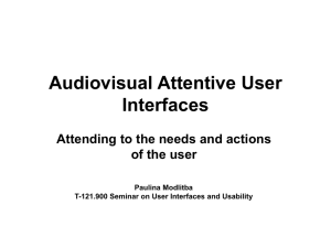 Audiovisual Attentive User Interfaces