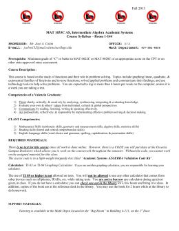 Mac 2233 test 1 study guide