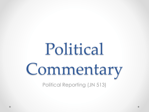 Political Commentary - Centre for Journalism