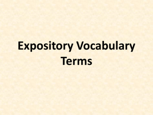Expository Vocabulary Terms