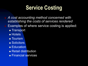 Service Costing - Bannerman High School