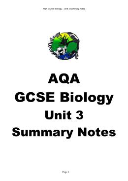 B3 gcse revision notes