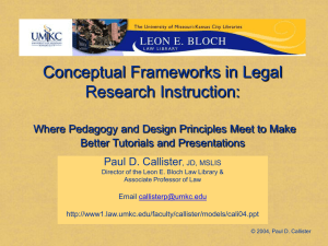 Conceptual Frameworks in Legal Research Instruction