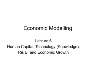 Human capital, technology, R & D and growth