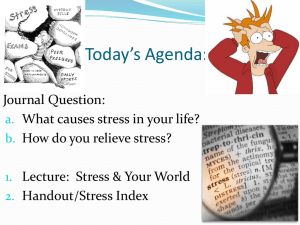 "Lecture PowerPoint ""Managing Stress in the World Around You"""
