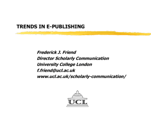 Trends in e-publishing